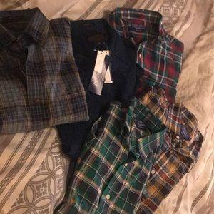 Pendleton plaid shirts x5 new